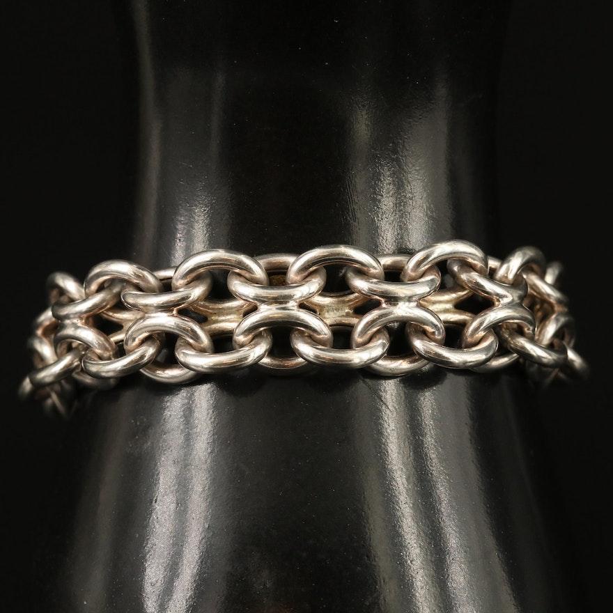 Sterling Silver Infinity Link Bracelet