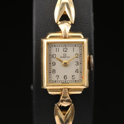 Vintage Omega 14K Gold Filled Stem Wind Wristwatch