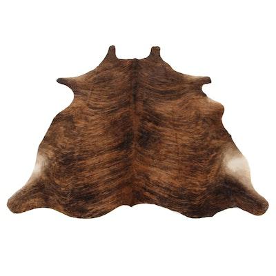 5'8 x 6'11 Natural Brindle Cowhide Area Rug