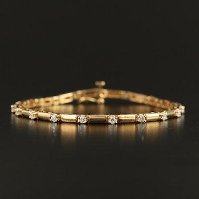 14K Diamond Bracelet