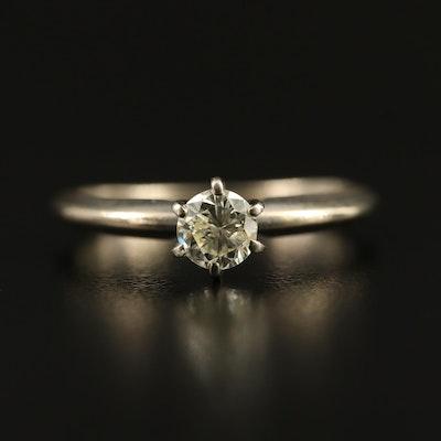 14K 0.40 CT Diamond Knife Edge Solitaire Ring