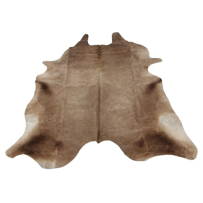 5'7 x 6'6 Natural Cowhide Area Rug