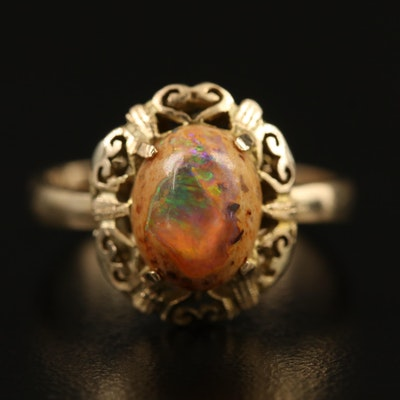Vintage 14K Opal in Matrix Ring