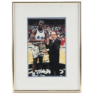1992-1993 Shaquille O'Neal Signed NBA All-Star Team Magic Framed Photo Print