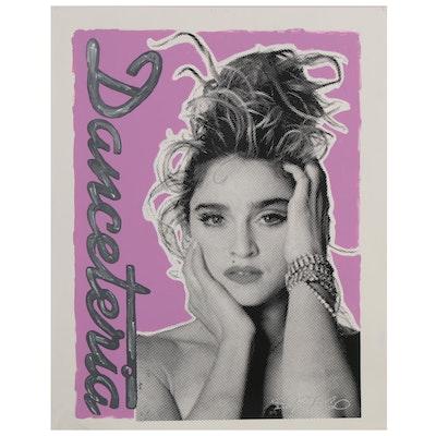 "John Stango Pop Art Mixed Media Painting ""Danceteria,"" 20th Century"
