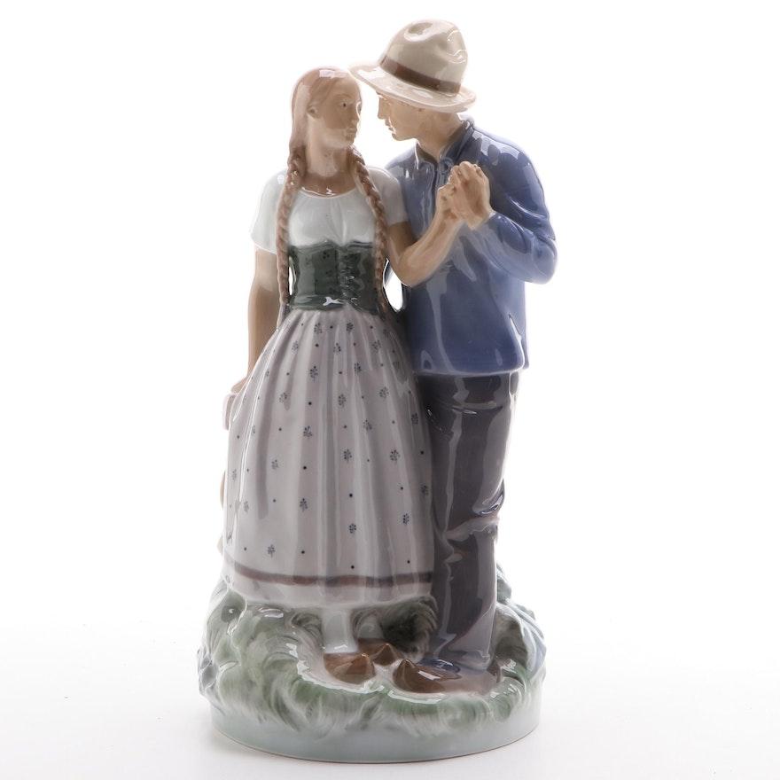 """Royal Copenhagen """"Henrik and Else"""" Porcelain Figurine, 1955"""