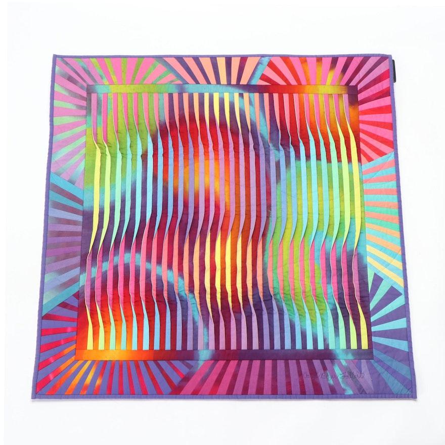 """Caryl Bryer Fallert for Bryerpatch Studios """"Reflection # 20"""" Art Quilt, 1991"""