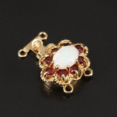 Robert Klein 14K Opal and Garnet Clasp
