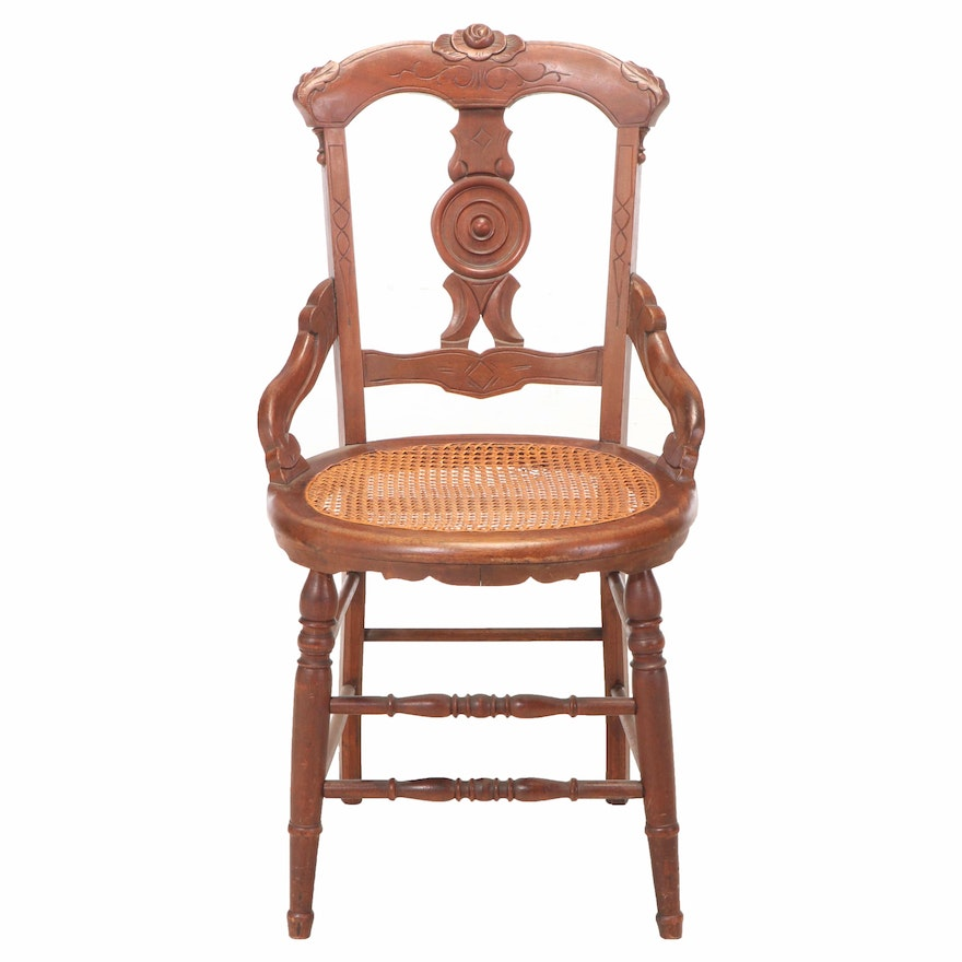 Victorian Walnut Side Chair, Late 19th Century