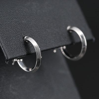 14K Huggie Knife Edge Earrings