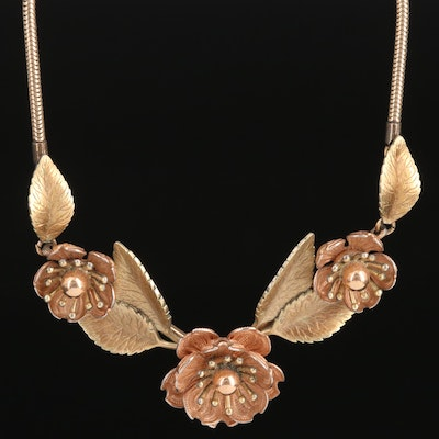 Vintage Krementz Flower Necklace