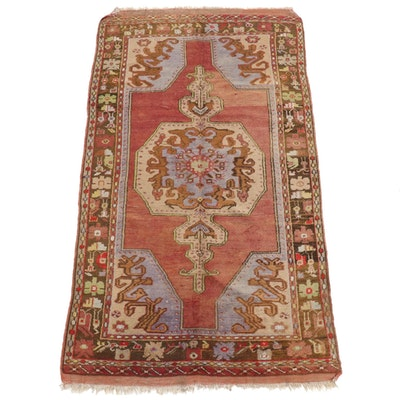 4'2 x 7'6 Hand-Knotted Turkish Village Rug, 1930s