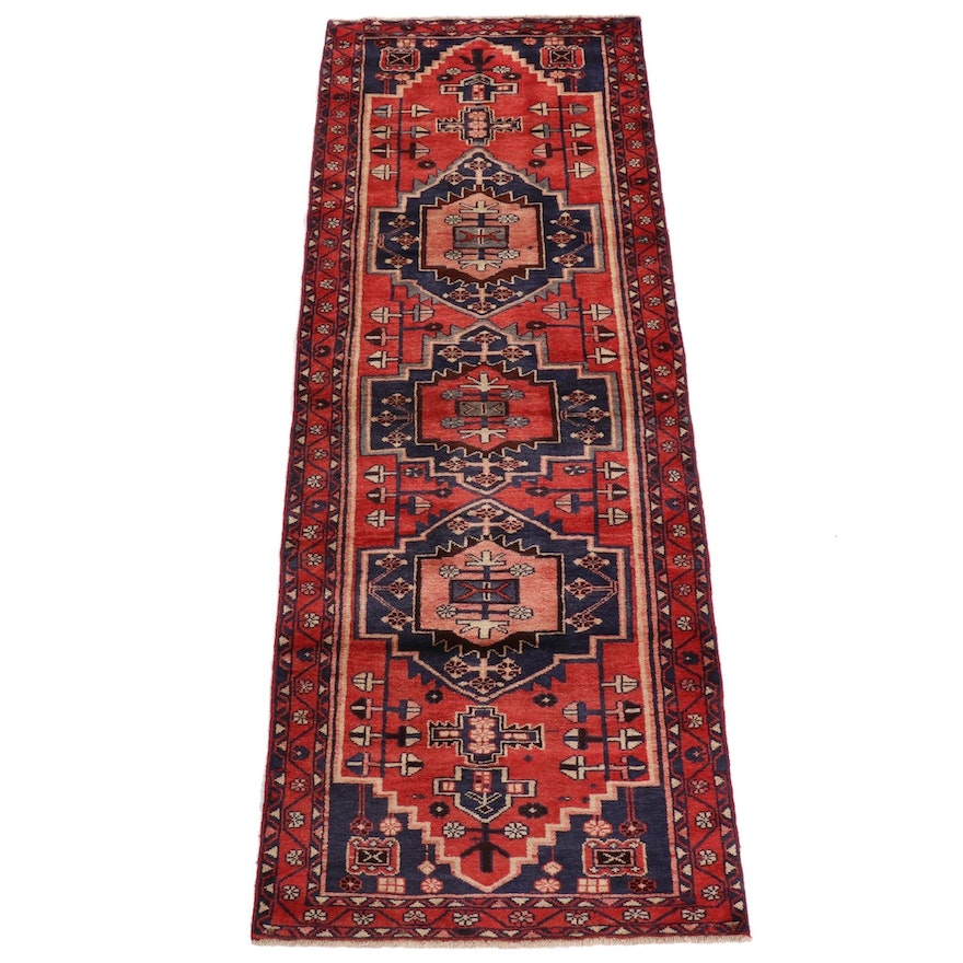 3'5 x 9'11 Hand-Knotted Northwest Persian Runner, 1960s