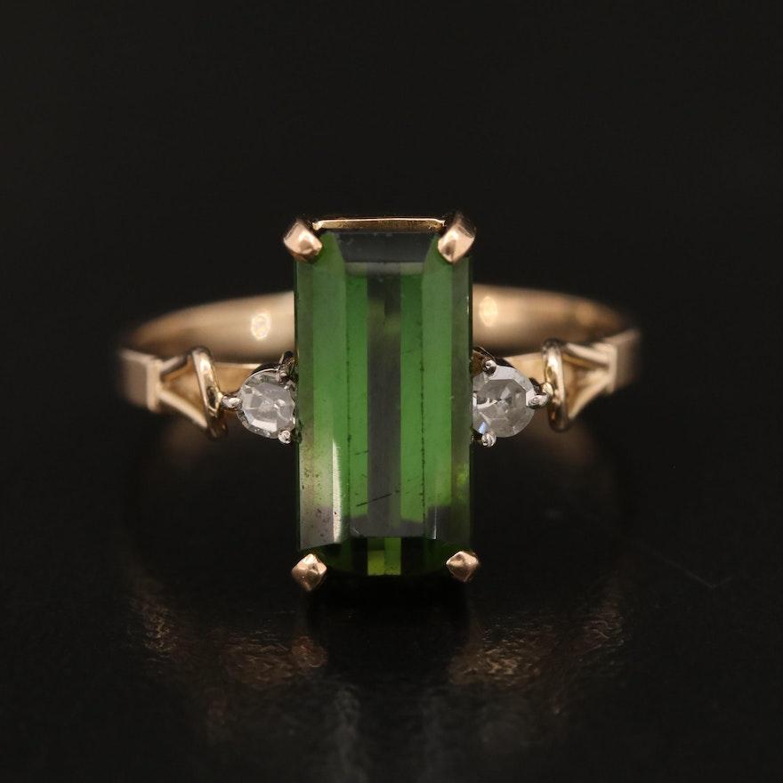 14K Tourmaline and Diamond Ring