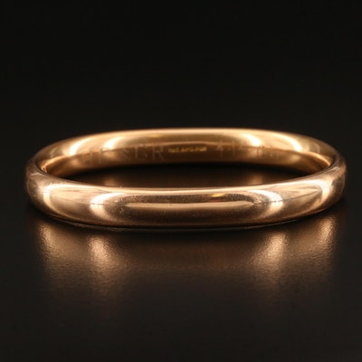 Antique Bates + Bacon Gold Tone Oval Hinged Bangle