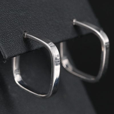 14K Square Hoop Earrings