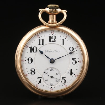 1916 Hamilton Gold Filled Railroad Grade Pocket Watch