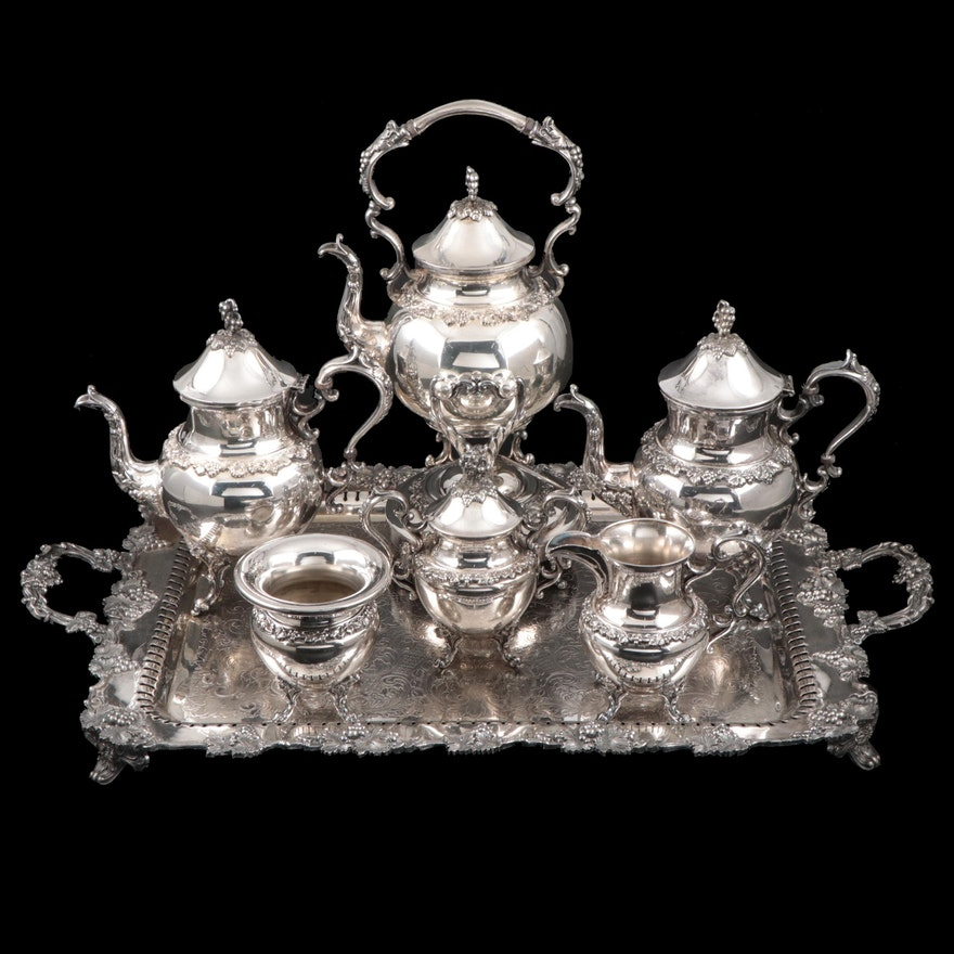Goldfeder Silver Co. Silver Plate Tea Service Set, Mid-20th Century