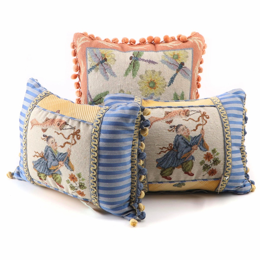 123 Creations Orientalist Style Needlepoint Pillows