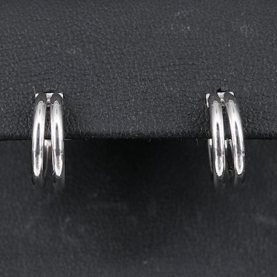 14K Double Huggie Earrings