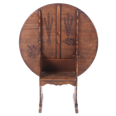 Habersham Plantation Pine Flip Top Hutch Table, Late 20th Century