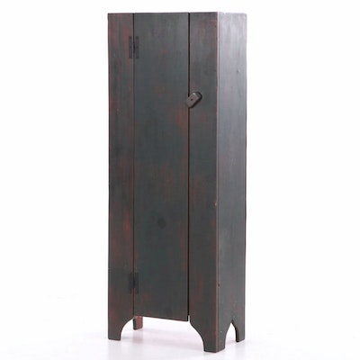 American Primitive Style Painted Pine Cupboard