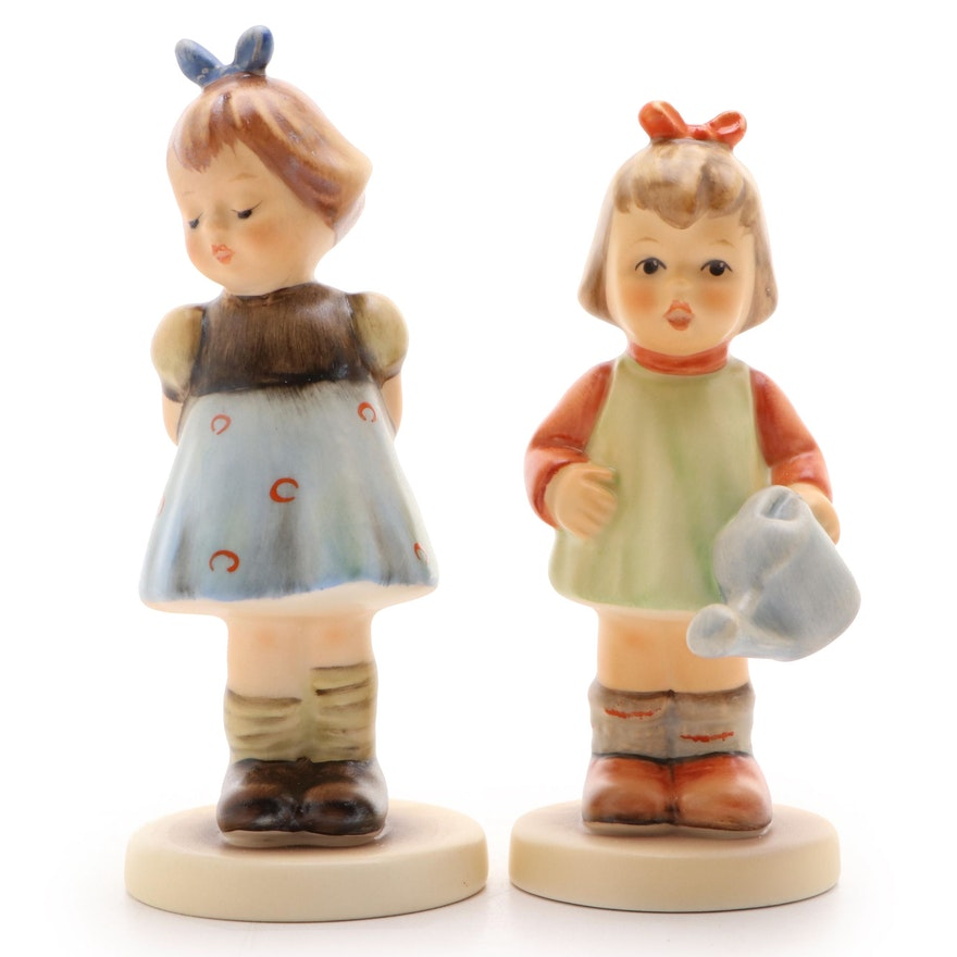 "Goebel M.I. Hummel Hand-Painted Porcelain Figurines Including ""Nature's Gift"""