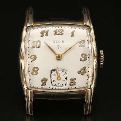 Vintage Elgin 10K Rolled Gold Plate Stem Wind Wristwatch