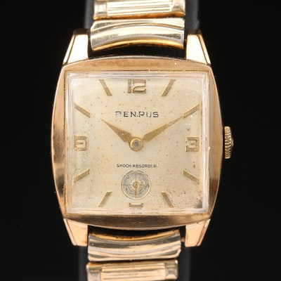 Vintage Benrus Gold Plated Stem Wind Wristwatch