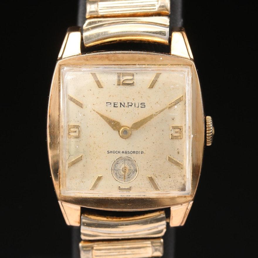 Vintage Benrus Gold Plated Stem Wind Wristwatch