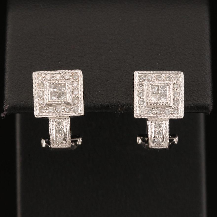 18K Diamond Earrings