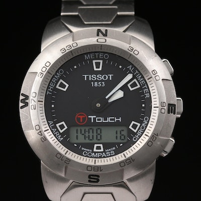 Tissot T - Touch Stainless Steel Multifunction Quartz Wristwatch
