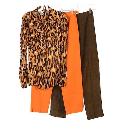 Max Mara, Alberto Makali, and Carlisle Pants and Long Sleeve Shirt