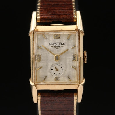 Vintage Longines 10K Gold Filled Stem Wind Wristwatch