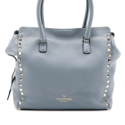 Valentino Rockstud Tote Bag in Rigid Leather