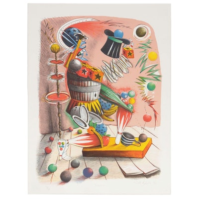 "Nick Bubash Color Lithograph ""Juggler"", 1996"