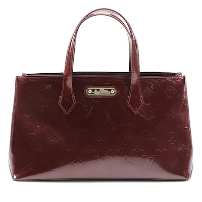 Louis Vuitton Wilshire PM Handbag in Rouge Fauviste Monogram Vernis