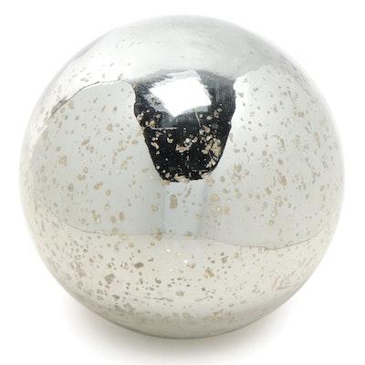 Mercury Glass Sphere, Contemporary