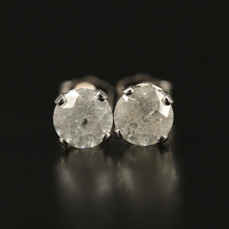 14K 1.44 CTW Diamond Stud Earrings