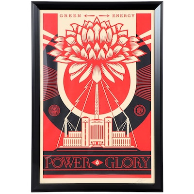 "Shepard Fairey Offset Print ""Green Energy - Power Glory,"" 2020"