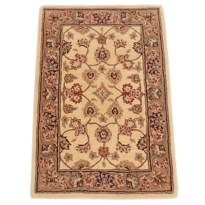 2' x 3' Hand-Tufted Persian Tabriz Silk Blend Rug, 2010s