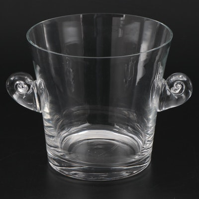 Tiffany & Co. Scroll Handled Glass Ice Bucket