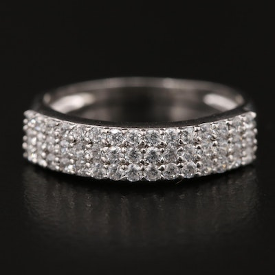 Sterling Silver Cubic Zirconia Multi Row Band