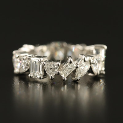Platinum 4.51 CTW Mixed Cut Diamond Eternity Band