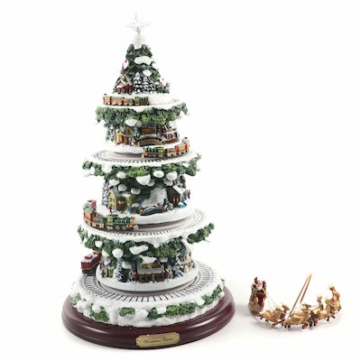 "Thomas Kinkade for Hawthorne Village ""Wonderland Express"" Christmas Tree"