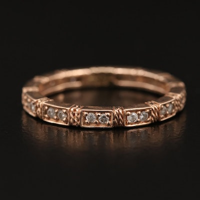 Sonia Bitton 14K Rose Gold Diamond Eternity Band