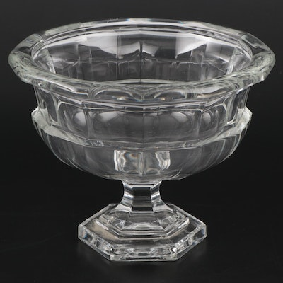 Pressed Glass Panel Pattern Compote