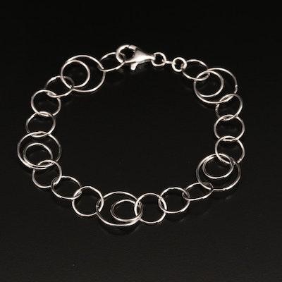 Sterling Silver Concentric Link Bracelet