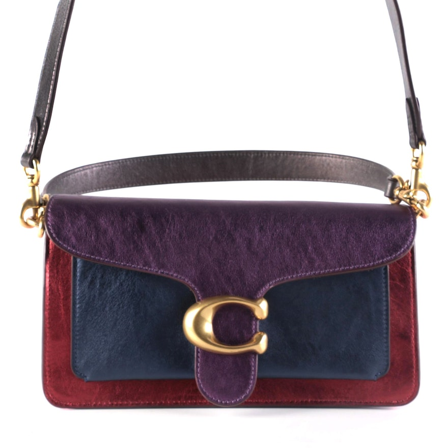 Coach Tabby Metallic Multicolored Leather Two-Way Bag