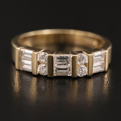 14K Cubic Zirconia Band